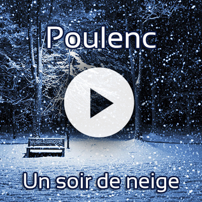 Listen to the Commonwealth Chorale sing Un soir de neige by Poulenc